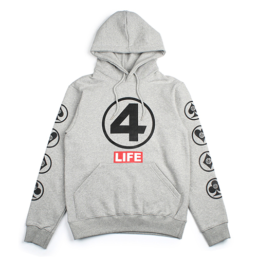 [NASTY PALM]  4LIFE HOODY (GREY)