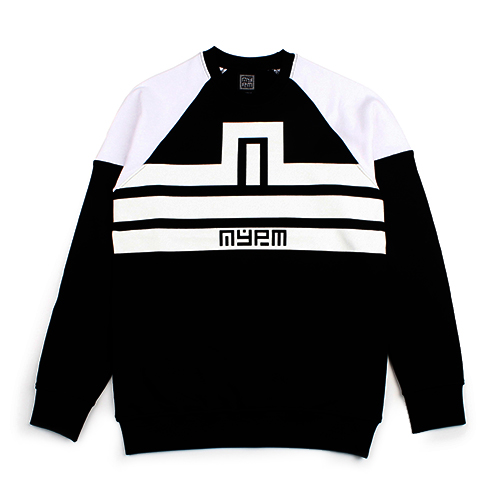 [NASTY PALM] N-FIGURE RAGLAN SWEATSHIRTS (BLACK)