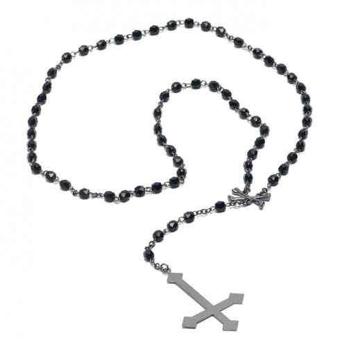 [BLACK SCALE] PIETRO ROSARY NECKLACE