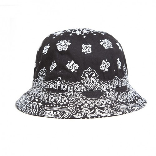 [BLACK SCALE] BANDANA BUCKET HAT (BLACK)
