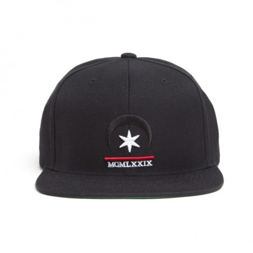 [BLACK SCALE] SIX POINTED STAR MOON SNAP BACK (BLACK)