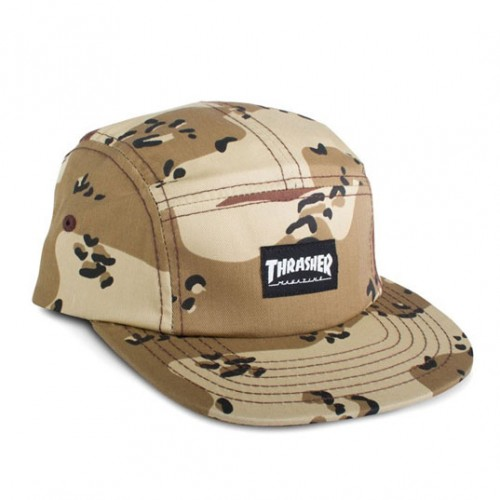 [THRASHER] 5 PANEL DCM CAP (CAMO)