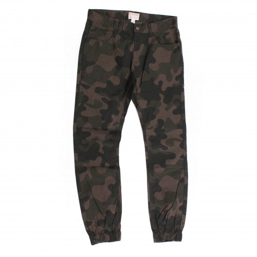 [ELWOOD] THE BEDOFORD 5 POCKET ELASTIC CUFF PANTS (BLACK CAMO)