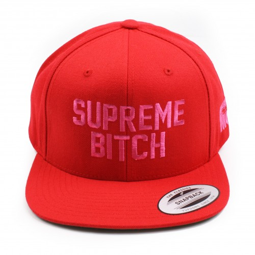 [MARRIED TO THE MOB] THE SUPREME BITCH SNAPBACK (RED)