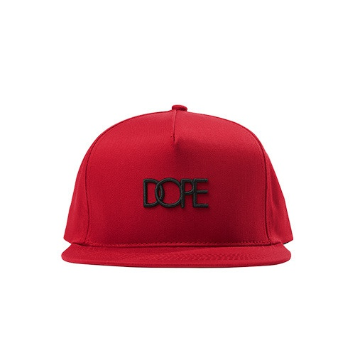[DOPE] SMALL LOGO SNAPBACK (RED)