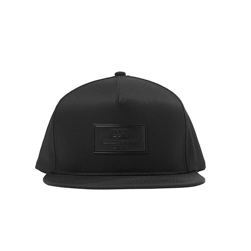 [DOPE] LEATHER PATCH SNAPBACK (BLACK)