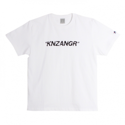 [$ SHOP SALE] [KANEZ] KNZANGR LOGO T-SHIRTS WHITE