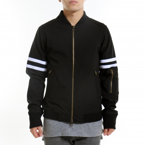 [$ SHOP SALE] [CIVIL] FEARLESS BOMBER JACKET (Black)