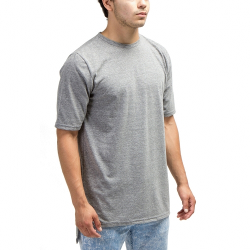 [1+1 EVENT] [$ SHOP SALE] [COUP DE MAIN] ELONGATED HIGH LOW TEE (HEATHER GREY)