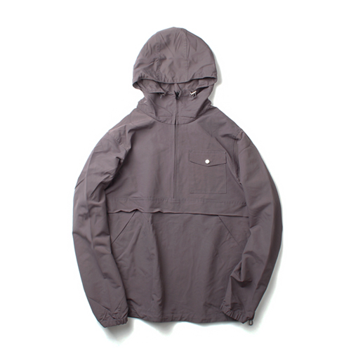 [MARCH WITH] NYLON PULLOVER ANORAK JACKET GRAY