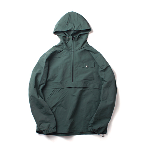 [MARCH WITH] NYLON PULLOVER ANORAK JACKET DARK GREEN