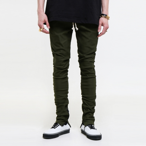 [$ SHOP SALE] [EPTM] ZIPPERED KRS OLIVE BREAK BEATS PANTS