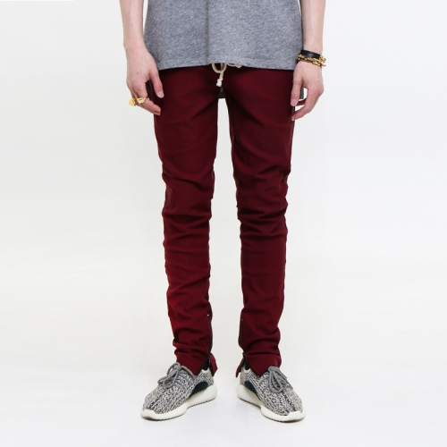 [쿠드그라스 연말 FINAL SALE] [EPTM] ZIPPERED TRIBE BURGUNDY BREAK BEATS PANTS