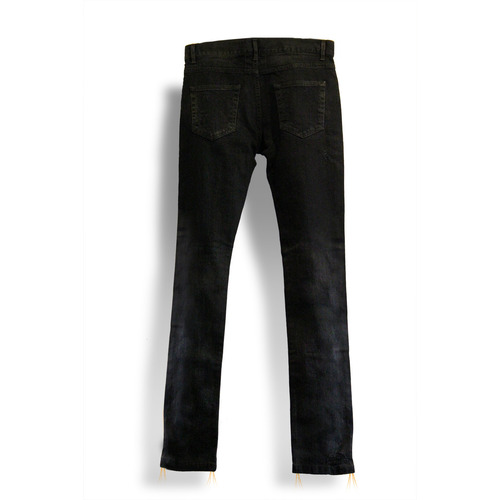 [THE GRAVE] BLACK DESTROYED JEANS