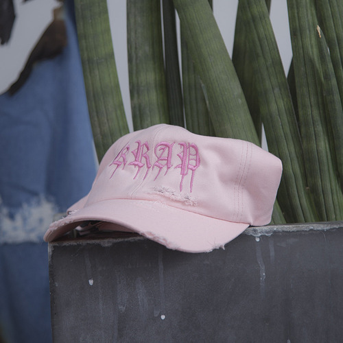 [KRAP] KRAP DESTROYED BALLCAP PINK