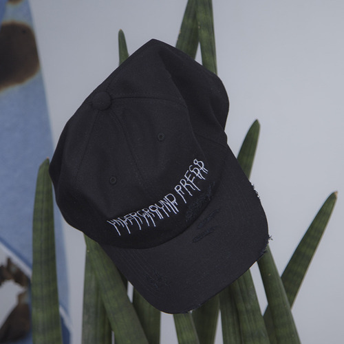 [KRAP] UNDERGROUND PRESS DESTROYED BALLCAP BLACK