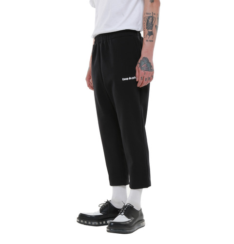 [COUPDEGRACE] COUP DE GRACE POLY SKINNY SLACKS (BLACK)