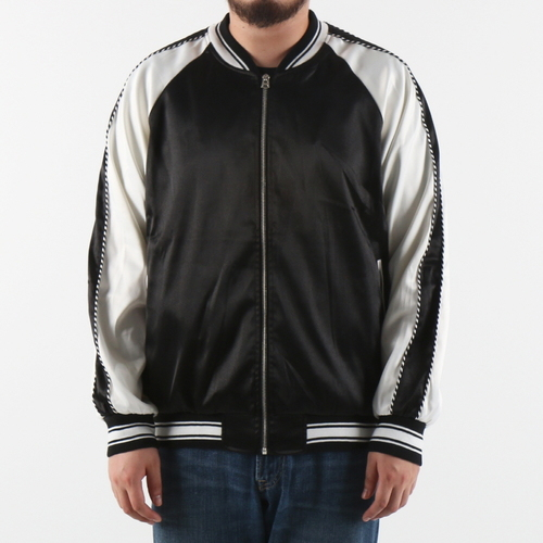[$ SHOP SALE] [EPTM] PLAIN SATIN JACKET (BLK/IVORY)