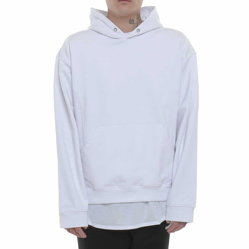 [BEHIND THE SCENES  x Coup de Grace] NEW DROPPED SHOULDER HOODIE WHITE