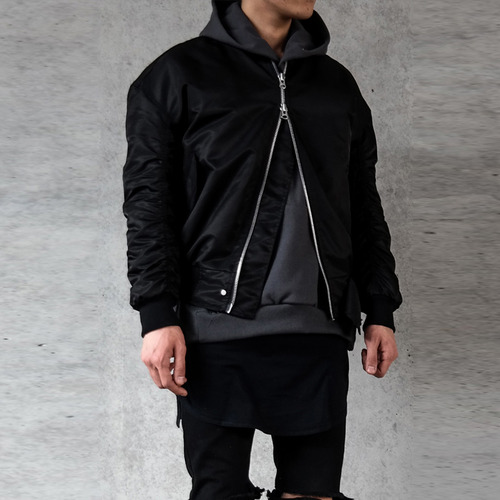 [XSACKY] SACKY 2WAY SHIRRING MA-1 (BLACK)