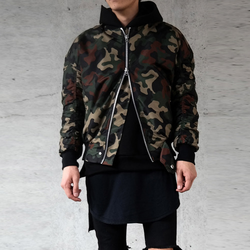 [XSACKY] SACKY 2WAY SHIRRING MA-1 (CAMO)