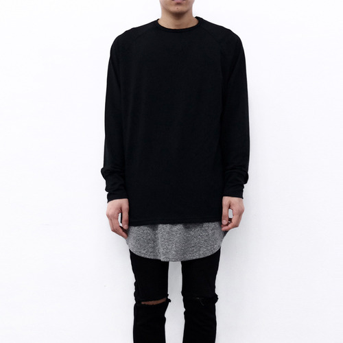 [XSACKY] SACKY RAGLAN SLEEVES (BLACK)