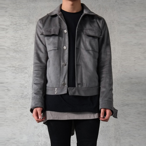 [XSACKY] SACKY SUEDE JACKET (DARK GREY)