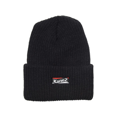 [KANEZ] FLAG BOX BEANIE BLACK
