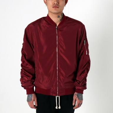 [$ SHOP SALE] [EPTM] LT WEIGHT MA-1 JACKET (BURGUNDY)