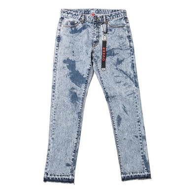 [OVERR] 17S/S PARTIAL BLEACH WASHING DENIM PANTS