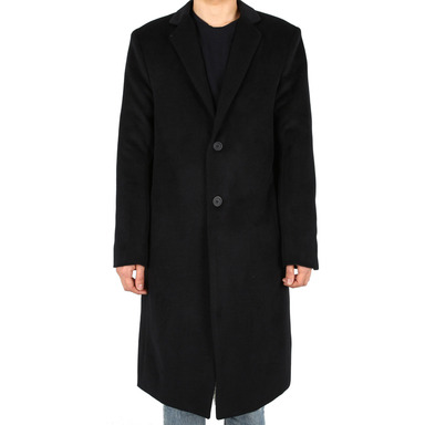 [XSACKY] 2 BUTTON SINGLE COAT (BLACK)