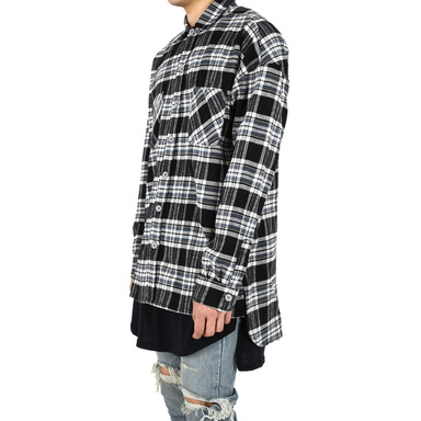 [XSACKY] FLANNEL CHECK SHIRT (BLACK)