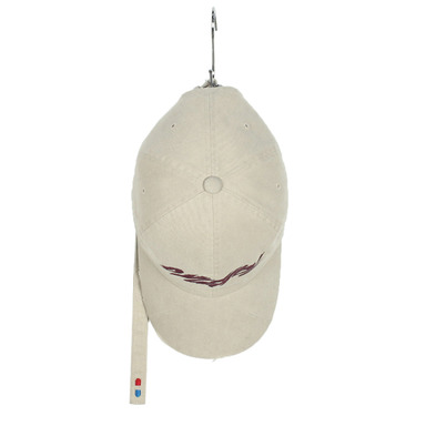 [SAINT SHOW] GARMENTS HAND MADE DESTROYED LONG STRAP CAP - BEIGE / BURGUNDY