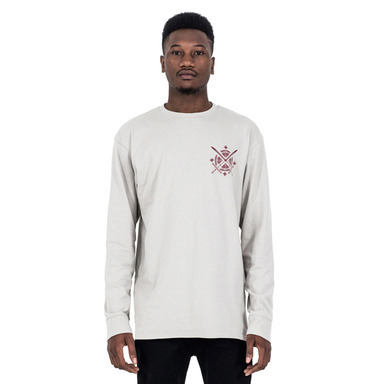 [SAINT SHOW] LONG SLEEVE T-SHIRT - ECRU/BURGUNDY