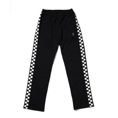 [THANKS FATHER] 2 TONE TRACKPANTS (BLACK)