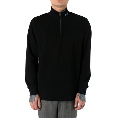 [쿠드그라스 연말 FINAL SALE] [NEIGE] ZIPPED TURTLENECK (BLACK)