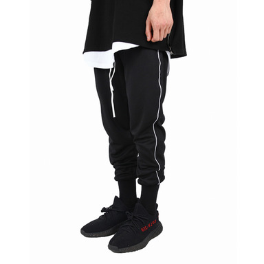 [XSACKY] PIPING JOGGER PANTS BLACK