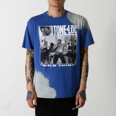 [$ SHOP SALE] [VINTAGE WEAR LA] TONE-LOC 'WILD THING' TEE BLUE
