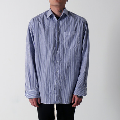 [마지막 수량 SALE] [COUPDEGRACE] BLUE STRIPE OVERSIZED SHIRT