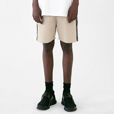 [MASSNOUN] LINEN SIDE LINE SHORT PANTS MUVSP005-BG