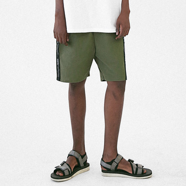[MASSNOUN] LINEN SIDE LINE SHORT PANTS MUVSP005-KK