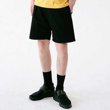 [MASSNOUN] SENSE COTTON SHORT PANTS MUVSP003-BK