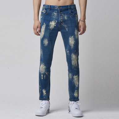 [TAKEASY] HAND MADE BLEACHED DENIM