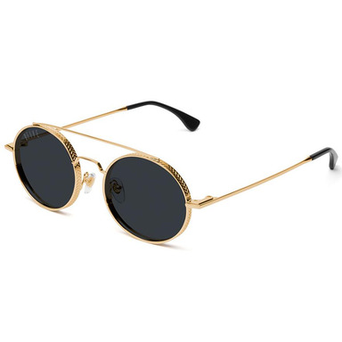 [쿠드그라스 연말 FINAL SALE] [9FIVE] 50-50 24K GOLD ROUND SUNGLASSES (PURE POLARIZED)