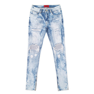 [DEADEND] BRUSHED ZIPPER DENIM JEANS