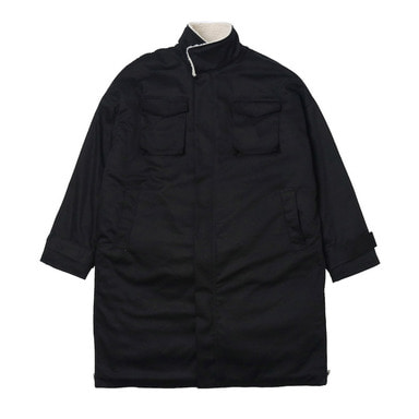 [DEADEND] BLACK SHERPA SIDE ZIP PARKA