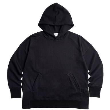 [DEADEND] BLACK SET IN RAGLAN PULLOVER HOODIE