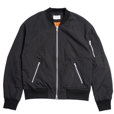 [DEADEND] BLACK SET IN RAGLAN FLIGHT JACKET