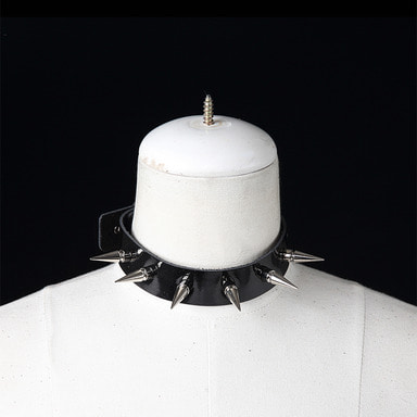[SADOPLAY] STUD CHOCKER(BLACK[ENAMEL])