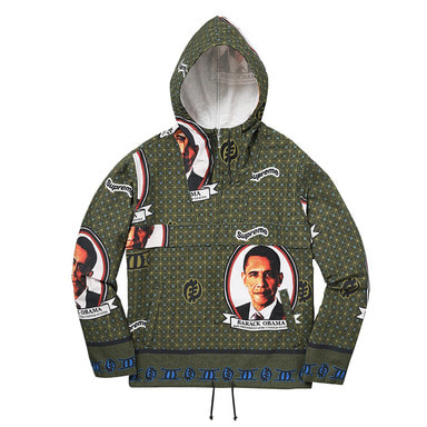 [쿠드그라스 연말 FINAL SALE] [SUPREME] OBAMA ANORAK JACKET (GREEN)